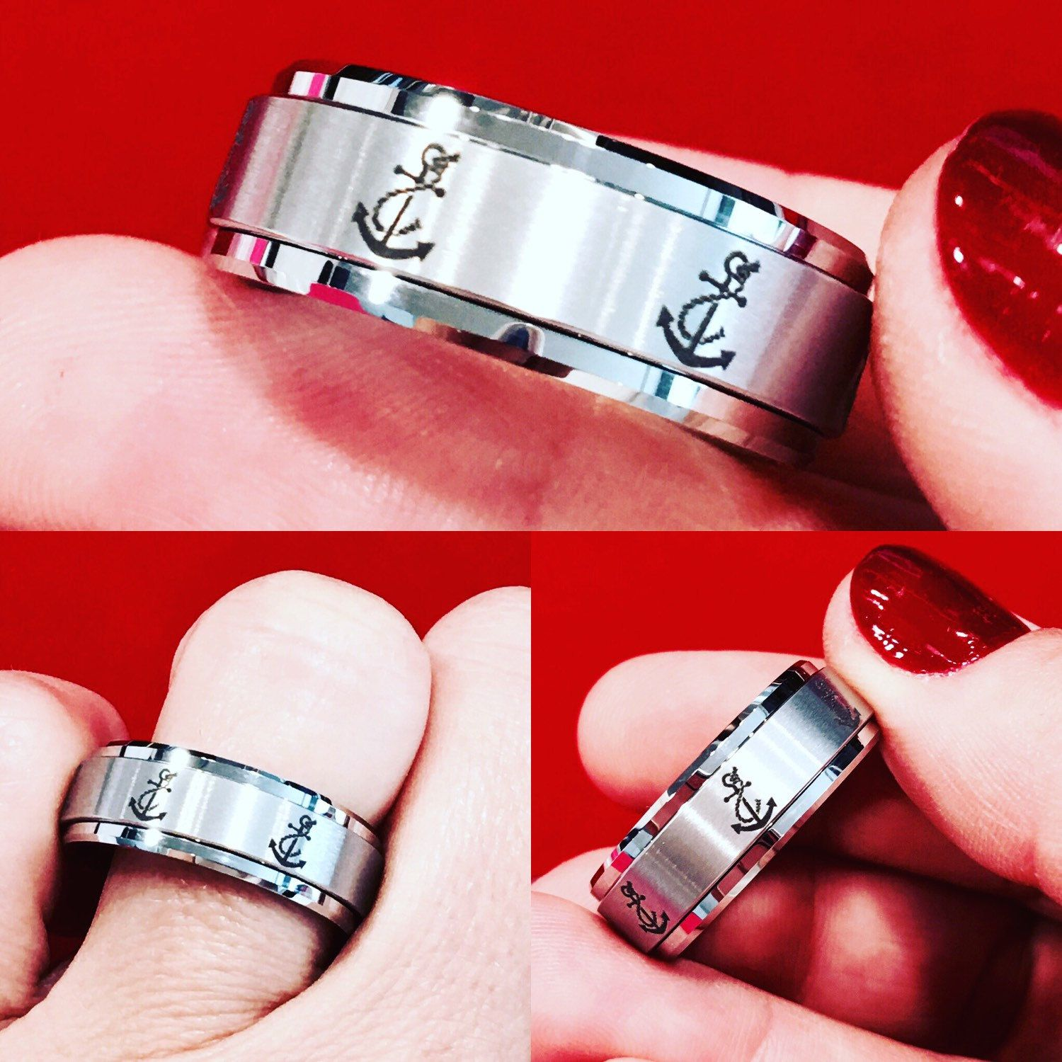 unique men s tungsten ring wedding bands engagement rings