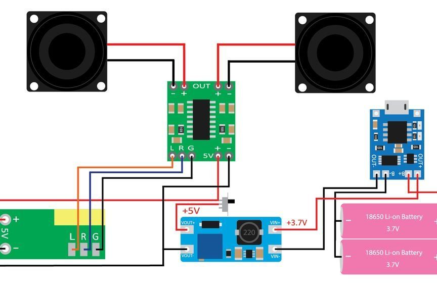 DIY Bluetooth Speaker (CubeBOX) | Diy bluetooth speaker, Bluetooth speakers  diy, Circuit diagramPinterest