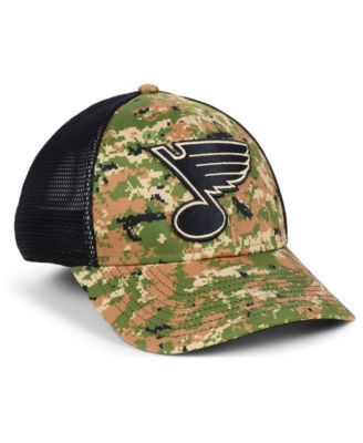 cheaper ef4c4 3583d Authentic Nhl Headwear St. Louis Blues Military Appreciation Speed Flex  Stretch Fitted Cap - Brown S M