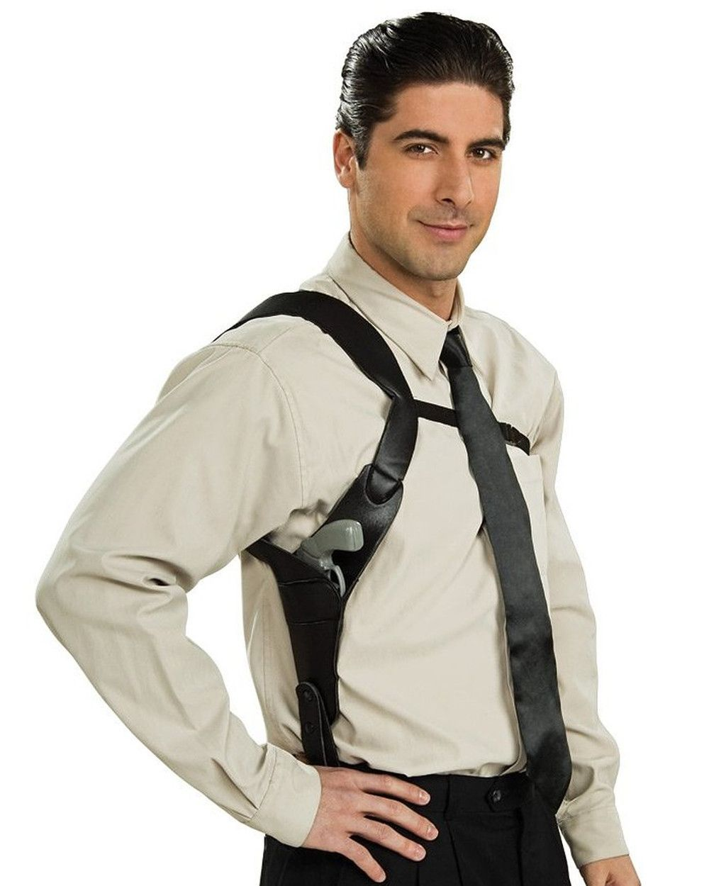 Shoulder Holster Adults Mens Fancy Dress Costume Accessory 1920s Gangster Gun