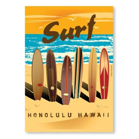 Honululu – A2 from Surf-Time Posters