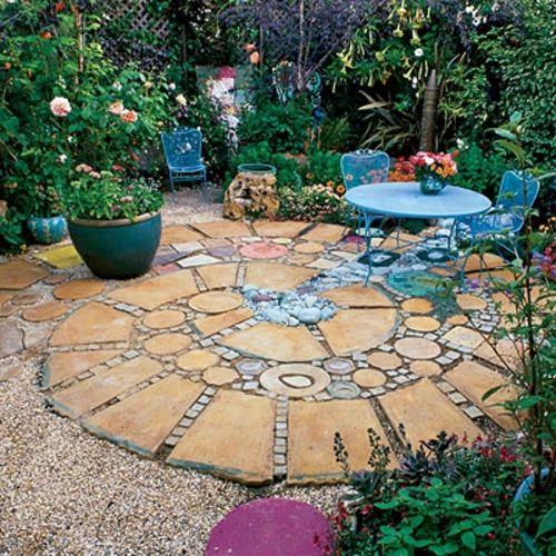 mosaik im garten stilisierte schnecke aus steinen mehr | garten, Garten und erstellen