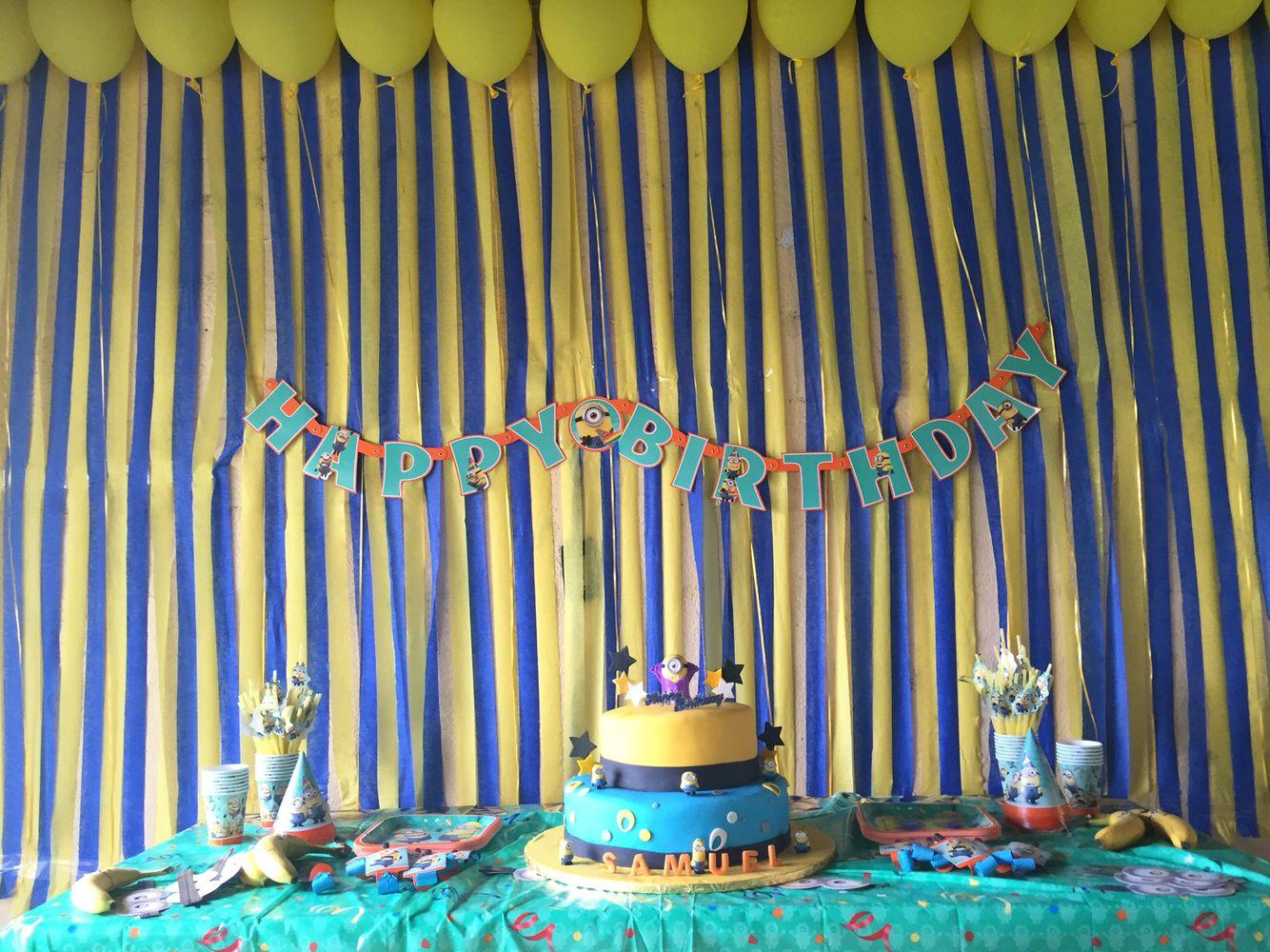 My son Sammy's 1st birthday party. #minions
