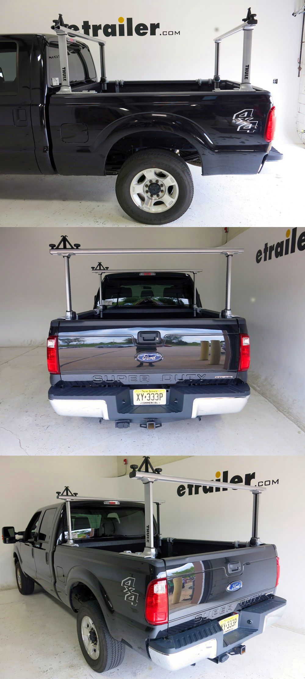 Thule xsporter pro adjustable height truck bed ladder rack aluminum 450 lbs thule ladder racks th500xt