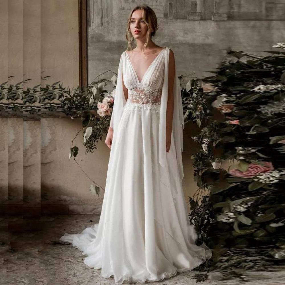 Greek Goddess Boho Chic Bridal Wedding Dress Custom Made Or  Etsy