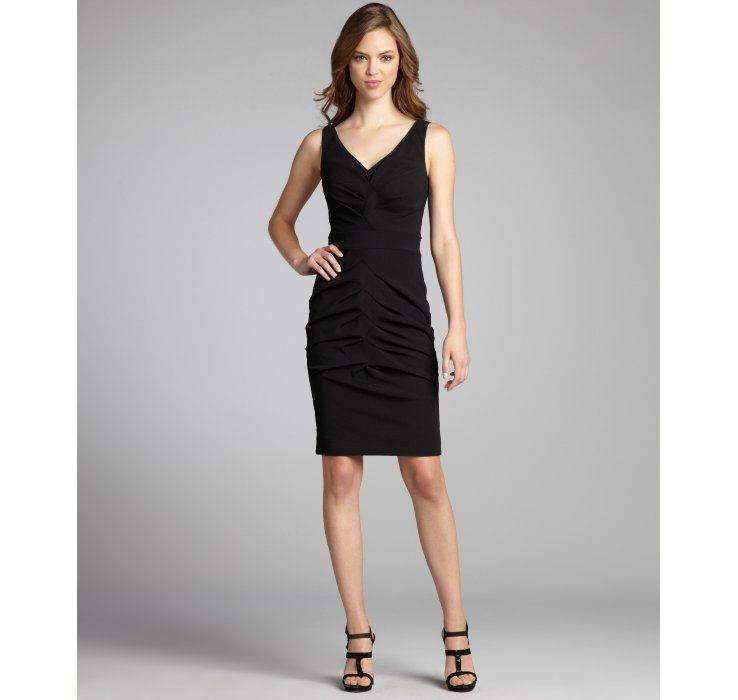 ruched sleeveless dress - Black Nicole Miller xFuq2OPy