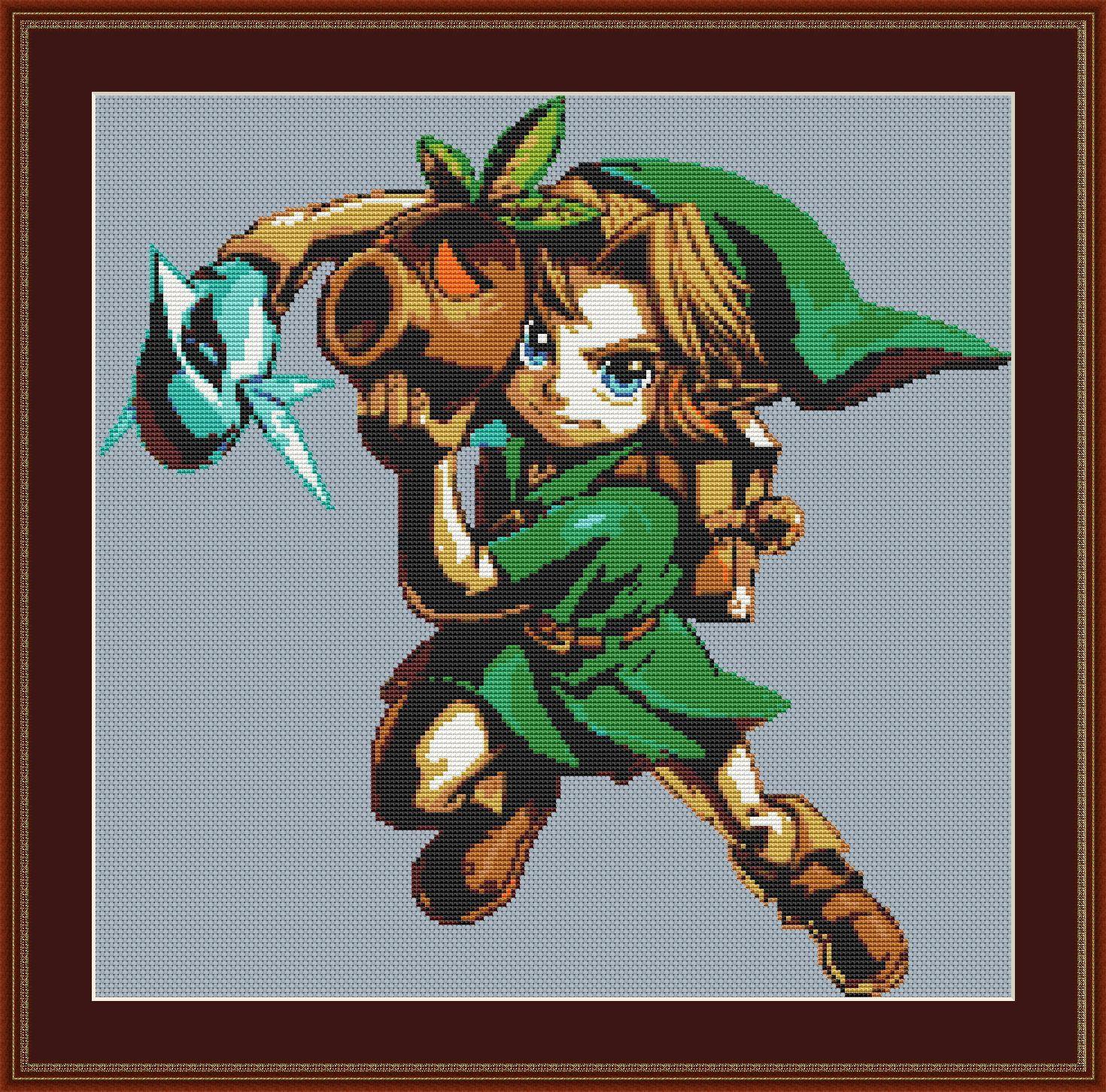 Legend of Zelda Cross Stitch Pattern, Link, Nintendo, Game