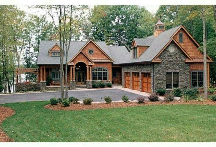Wood And Stone House Craftsman Style House Plans Craftsman House Plans Cottage House Plans