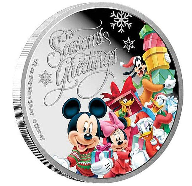Weihnachtsgrüße Disney.1 Dollar Silber Disney Weihnachtsgrüße Pp Numismatik Modern