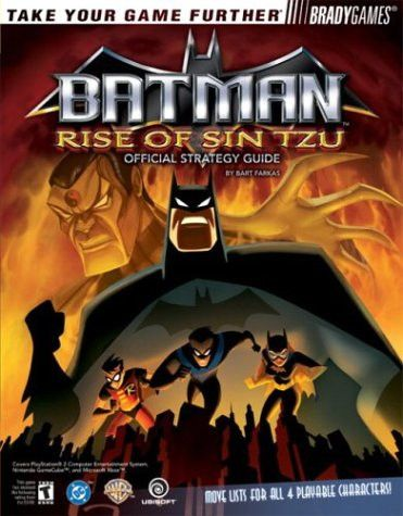 Batman Tm Rise Of Sin Tzu Official Strategy Guide Brady Games