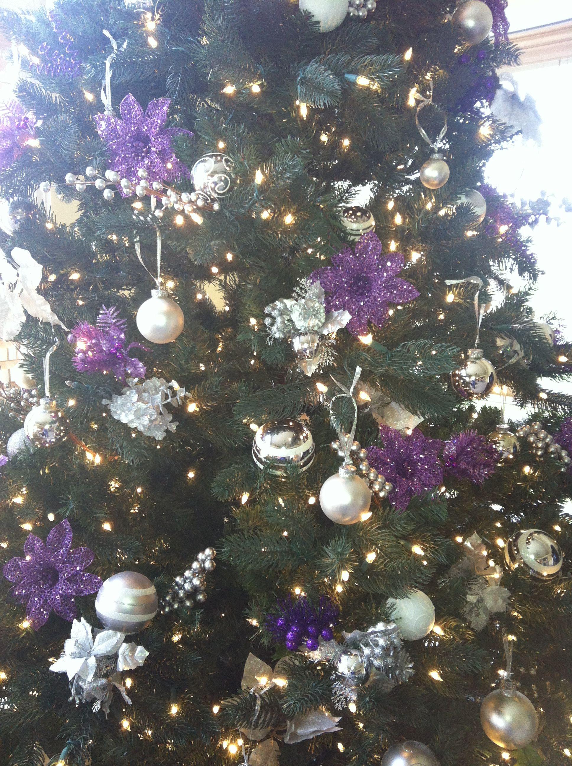 purple christmas tree christmas ideas pinterest
