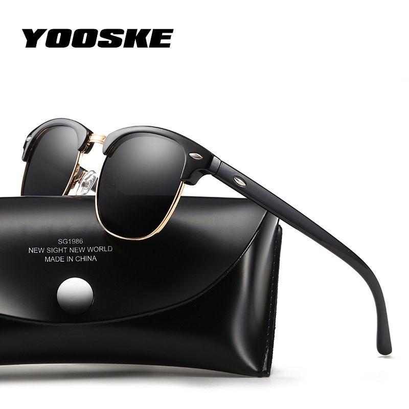 822016384f3812 YOOSKE Classique lunettes de Soleil Polarisées Hommes Femmes Rétro  Concepteur de Marque de Haute Qualité Lunettes de Soleil Femme Homme Mode  Miroir Lunettes ...