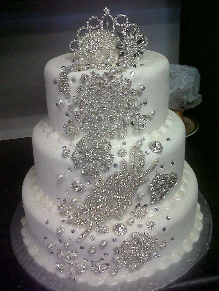 15+ Elegant wedding cakes with bling inspirations