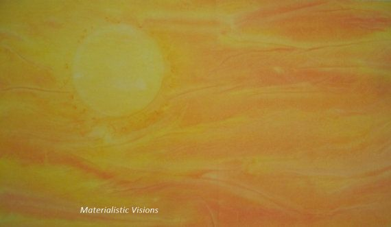 Hand dyed fabric  Sunny Skies  Background by MaterialisticVisions