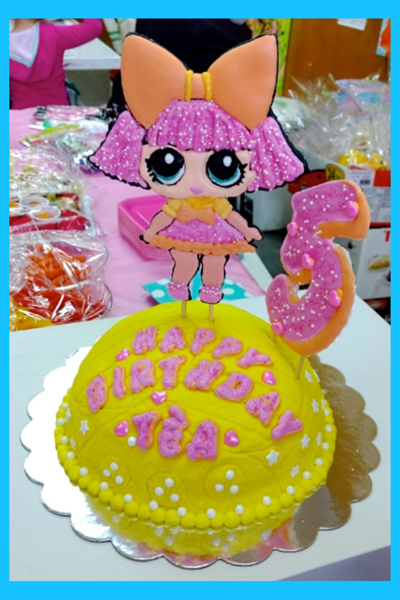 LOL Surprise Dolls birthday cake with Glitter Queen LOL Dolls