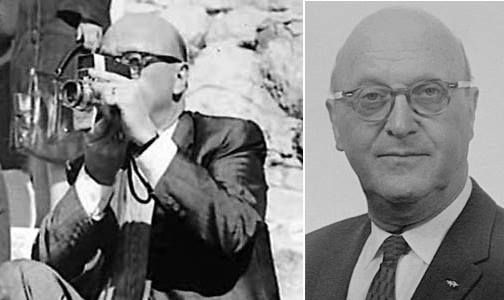 "Abraham Zapruder, the person who took the famous Zapruder Film ""home movie""  showing the assassination of Joh… 