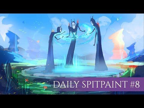 Daily Spitpaint #8| The Trinity (Kristina Toxicpanda, 2016)