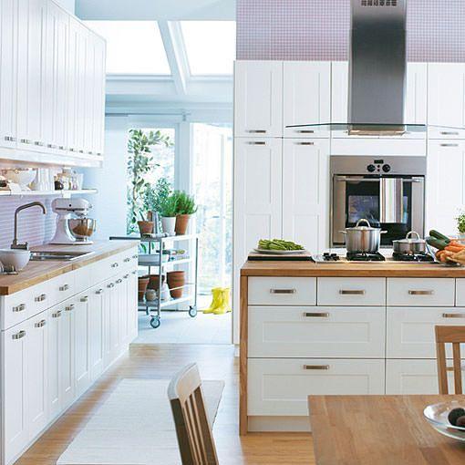 Cocina blanca de ikea kitchen pinterest cocina - Cocina madera ikea ...