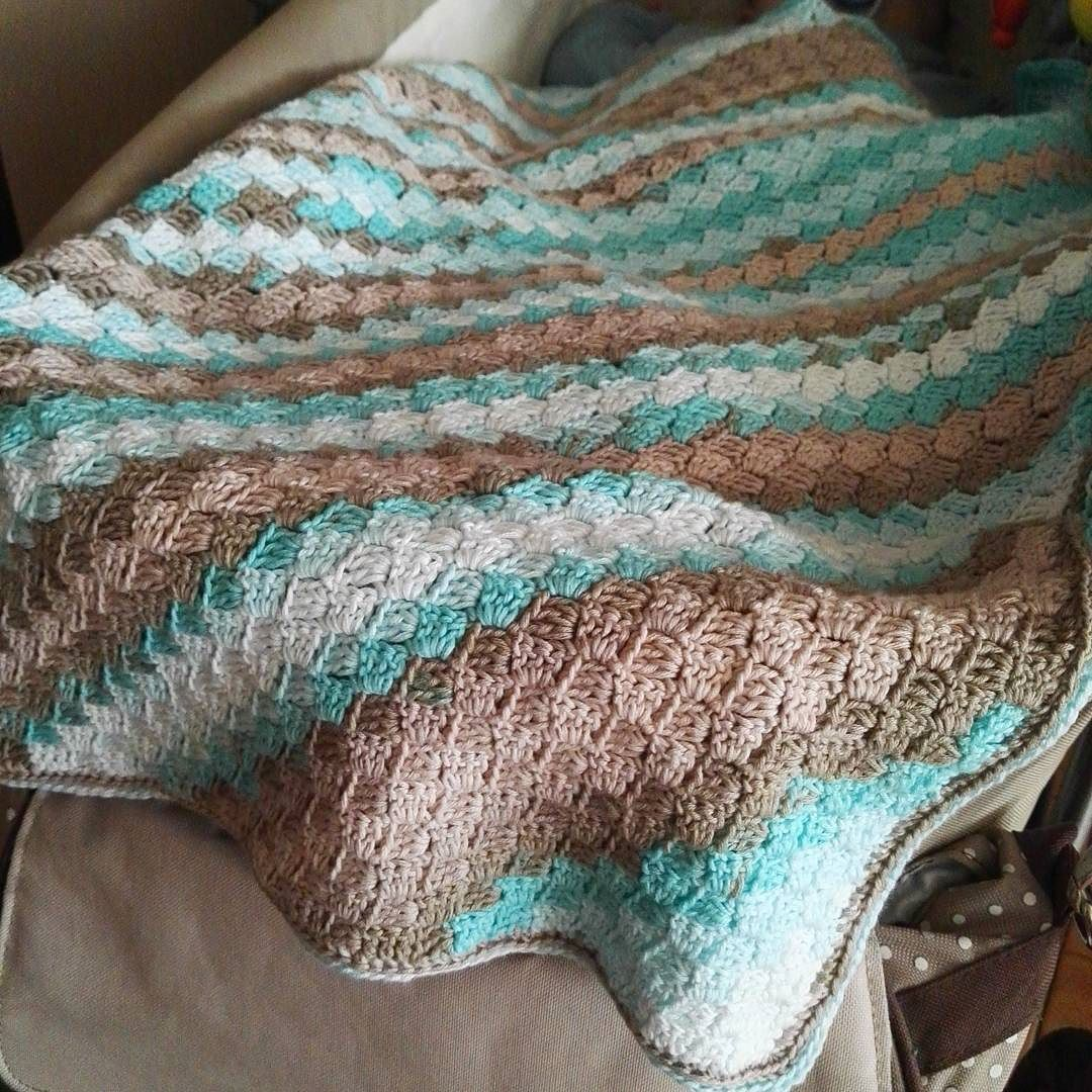 My last weekend was very productive. I finish c2c blanket for my boy and it perfect match with his dark beige stroller. #crochet #crocheting #crochetaddict #crochetpattern #c2c #blanket #crochetblanket #boy #girl #babyroomdecor #nurserydecor #stroller #stripes #weekend #productive by handmadebyania