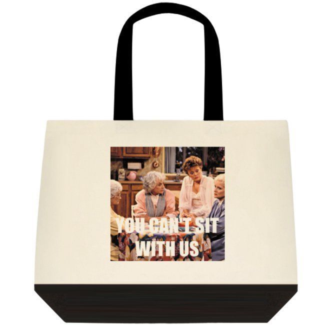 YOU CAN'T SIT WITH US The Golden Mean Girls Canvas Tote Book Bag Shopper Purse  #Unbranded #ToteBag