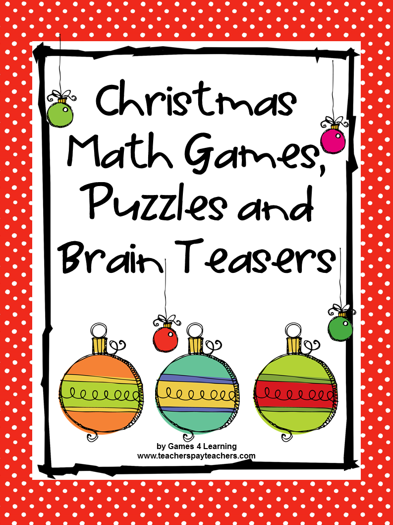 Christmas Activities: Christmas Math Games, Puzzles and Brain Teaser ...