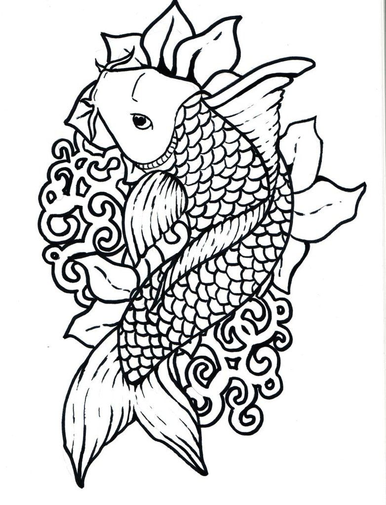 Free coloring page fish - Deviantart More Like Wind Fish Lineart By Joshukun