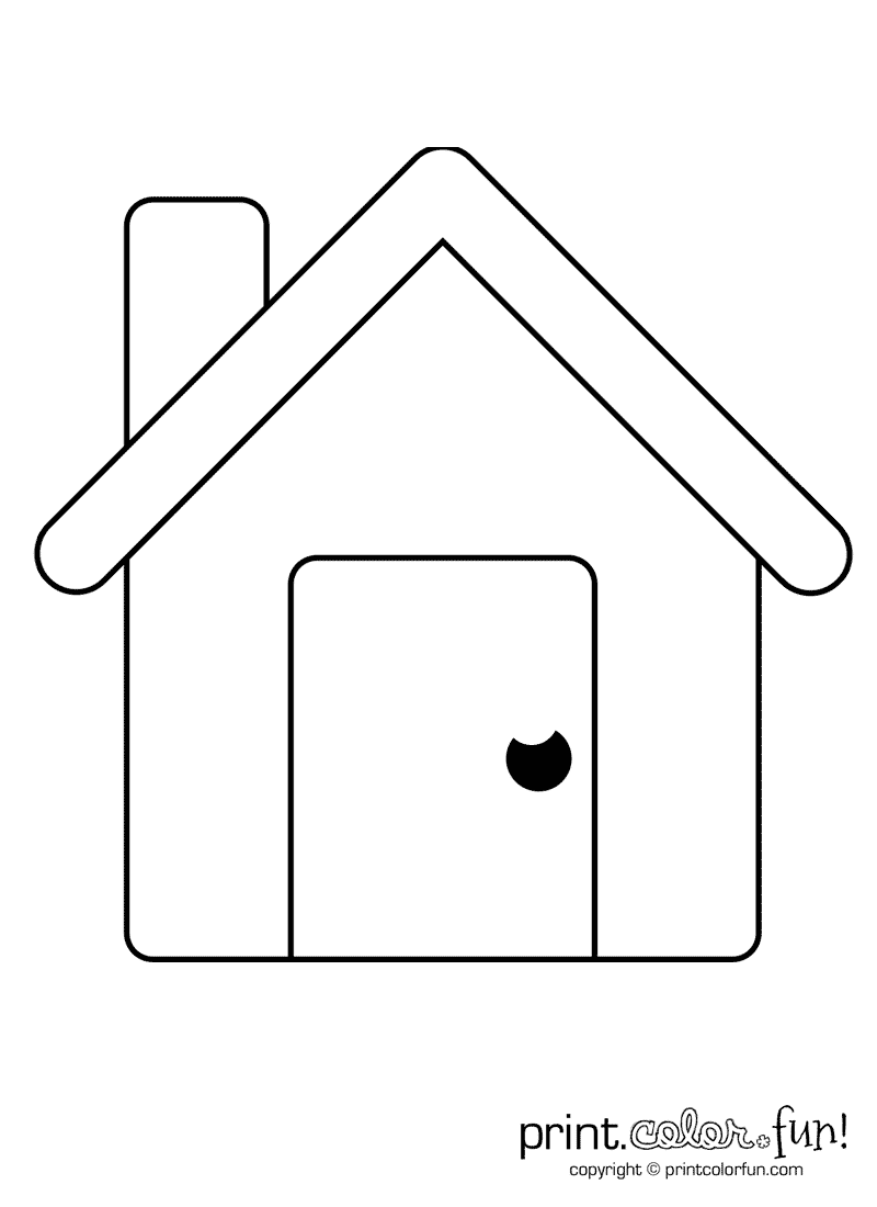 This Picture Of A Simple House Is Ready For Any Colors You Like The Big Birthday Calendar Book Large Pr House Colouring Pages Easy Coloring Pages Simple House