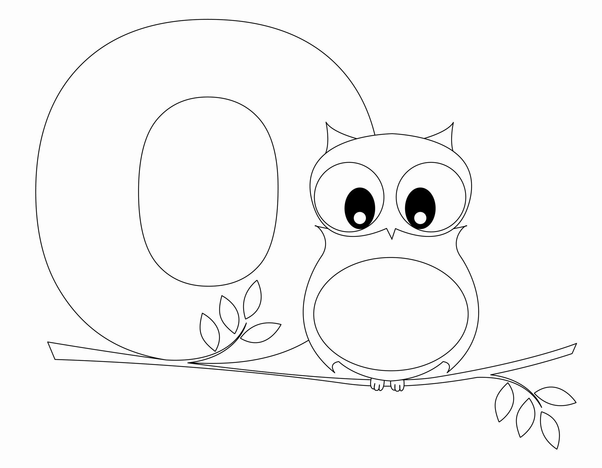 Letter O Coloring Page In