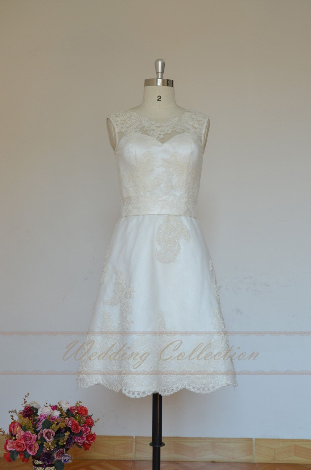 Lovely+short+lace+wedding+dress+Elopement+by+Weddingcollection,+$ ...