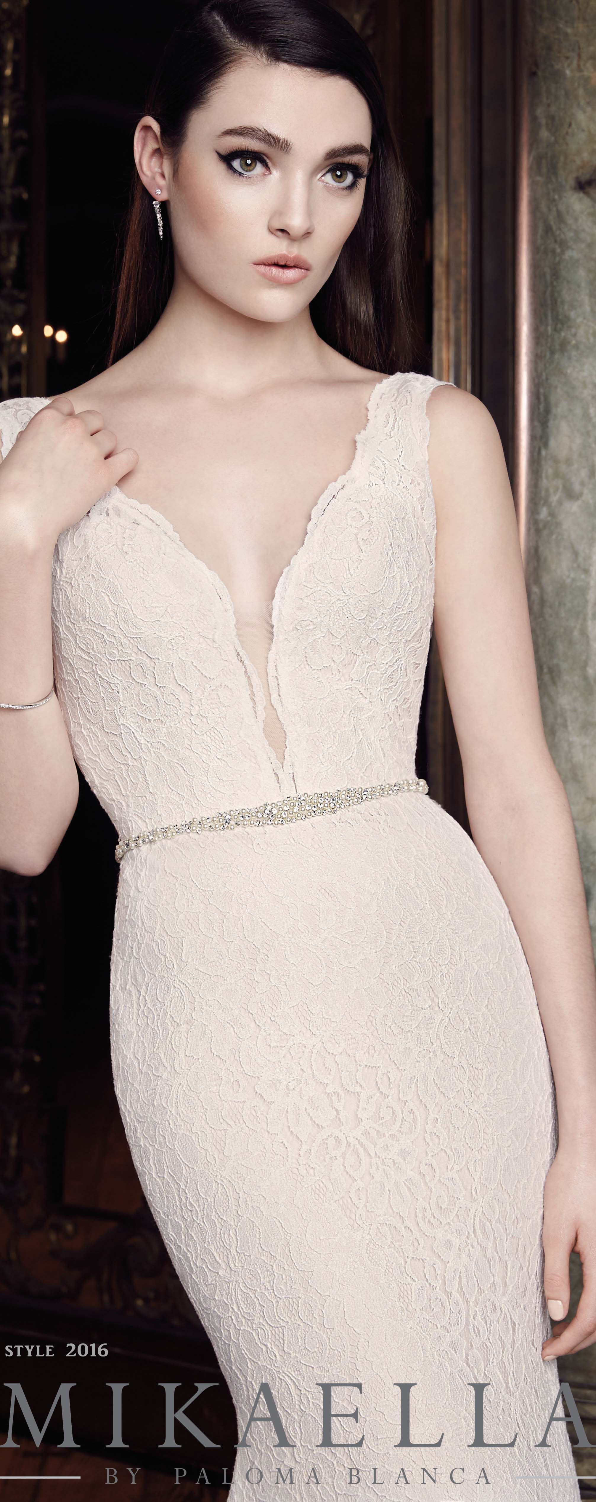 Plunging lace wedding dress style bridal gowns galore