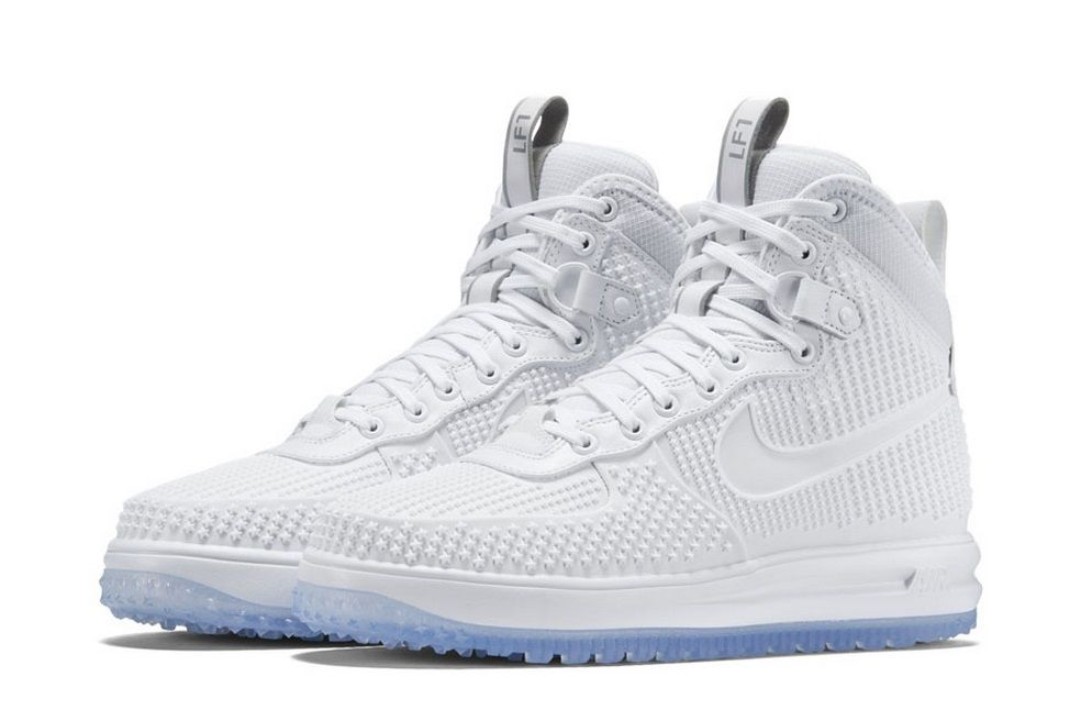 The Nike Lunar Force 1 Duckboot Goes for a Complete Whiteout