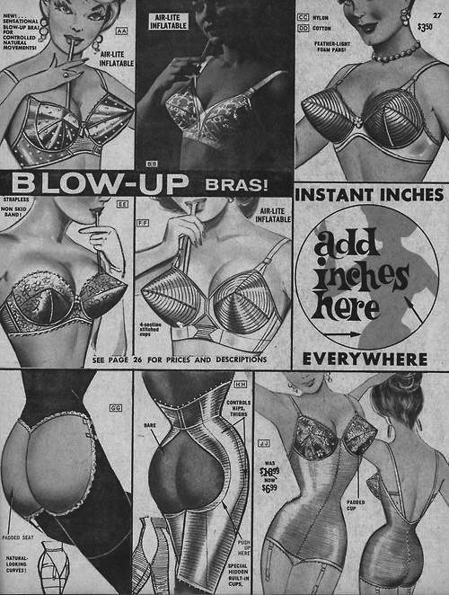Frederick's of Hollywood, Blow up bra and Hubba Heiny, 1964