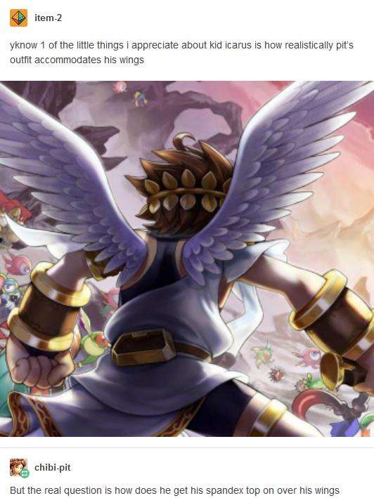 Image Result For Kid Icarus Wings