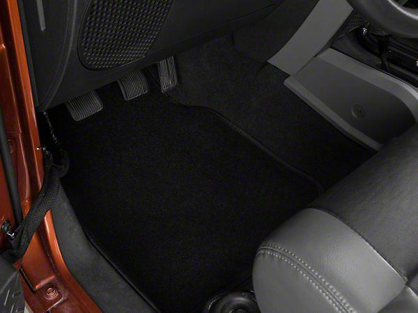 Wrangler Black Carpeted Floor Mat Set 87 15 Wrangler Yj Tj Jk Free Shipping With Images Black Carpet Carpet Flooring Floor Mats