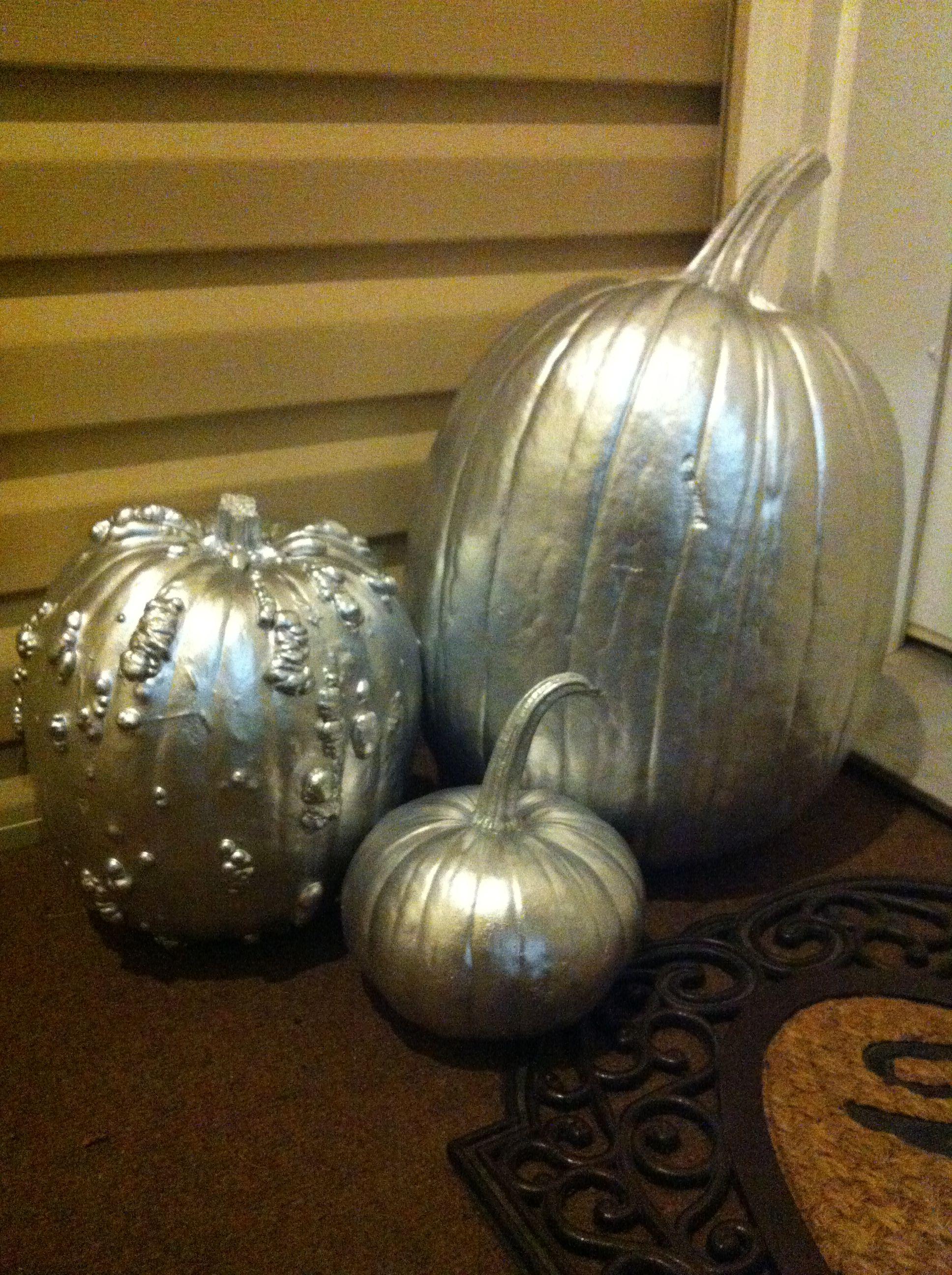 Silver Pumpkins Silver Pumpkins Holiday Decor Decor