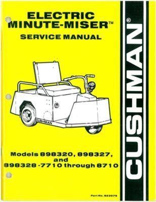 ezgo 823979 1977 1987 service manual for cushman electric powered rh pinterest com Cushman Owner's Manual Cushman Golfster Manual