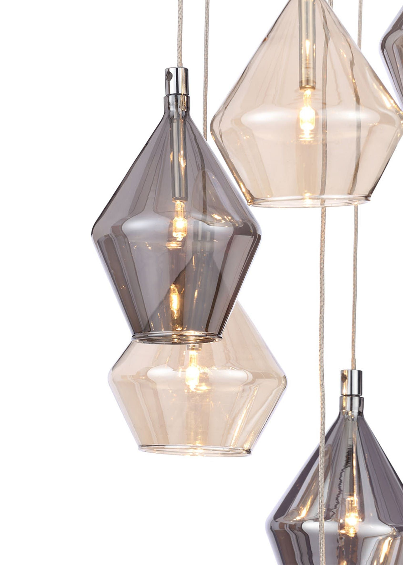 Elara Cluster Pendant Light (H100cm-57cm x W25cm) – Multi #pendantlighting