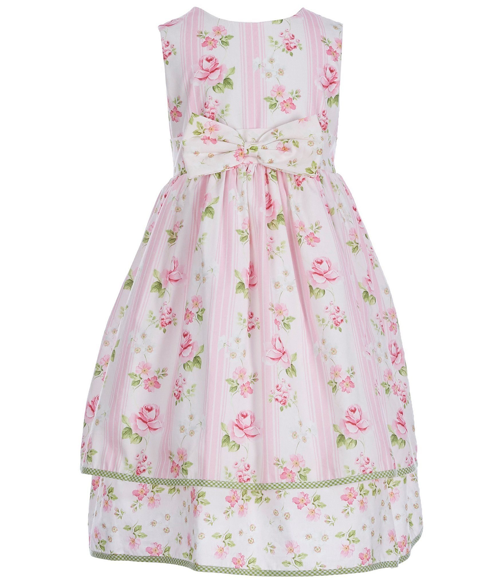 7fa1acaa55 Laura Ashley London Little Girls 2T6X Sleeveless FloralStriped Dress   Dillards
