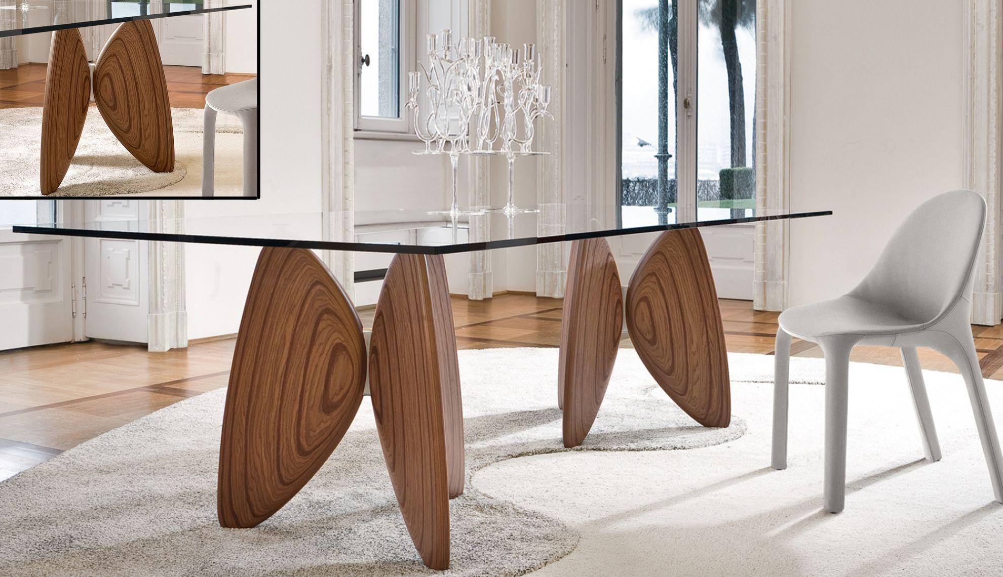 Tavolo Legno Con Gambe In Vetro Windellco Tavolo Design E inside ...
