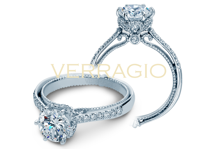 COUTURE-0429DR engagement ring from The Couture Collection of diamond engagement rings by Verragio