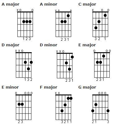 Guitar Beginners Guide To Open Chords Messages Guitars And