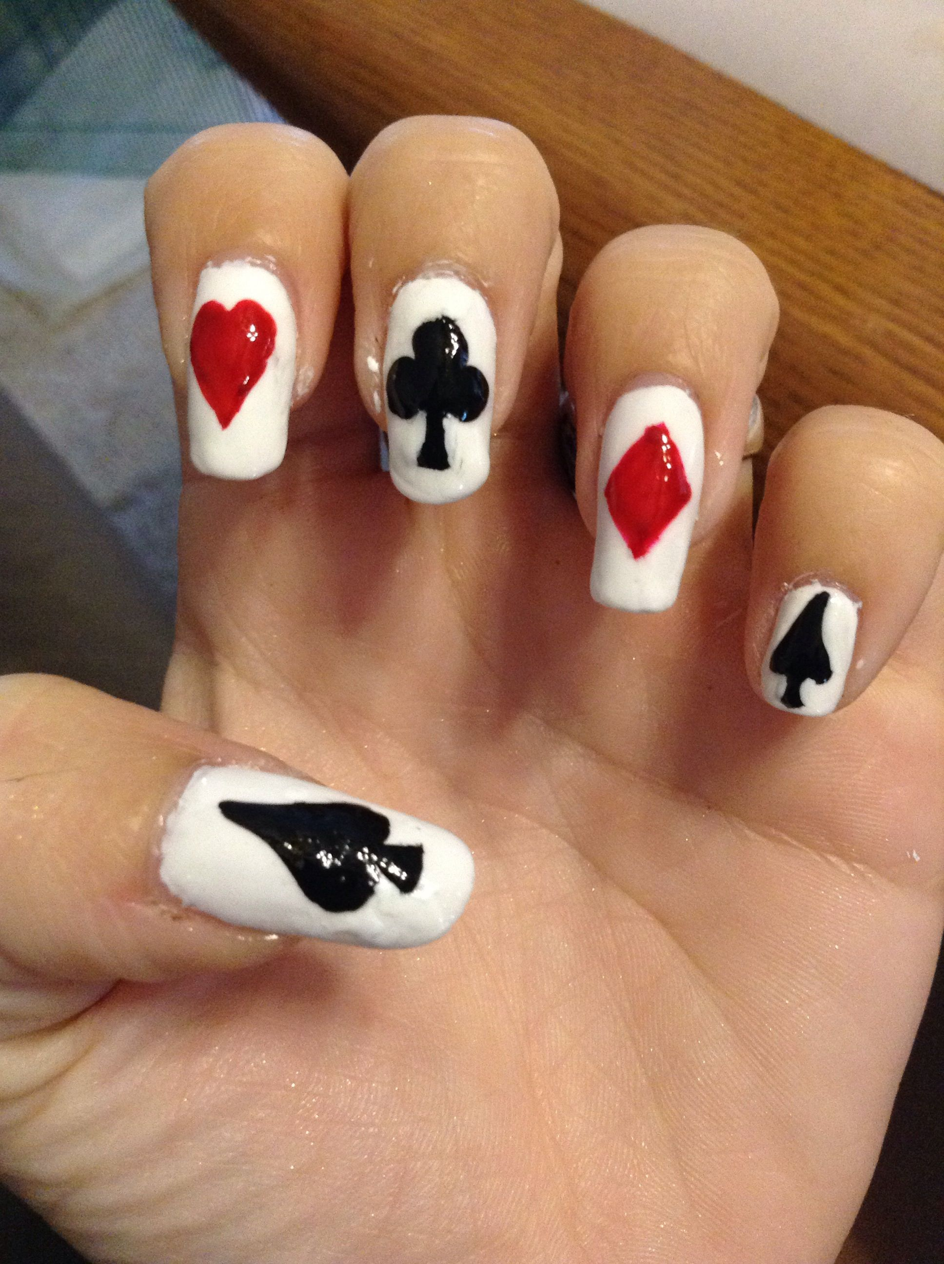 Card Suit Nails Love These Nail Designs