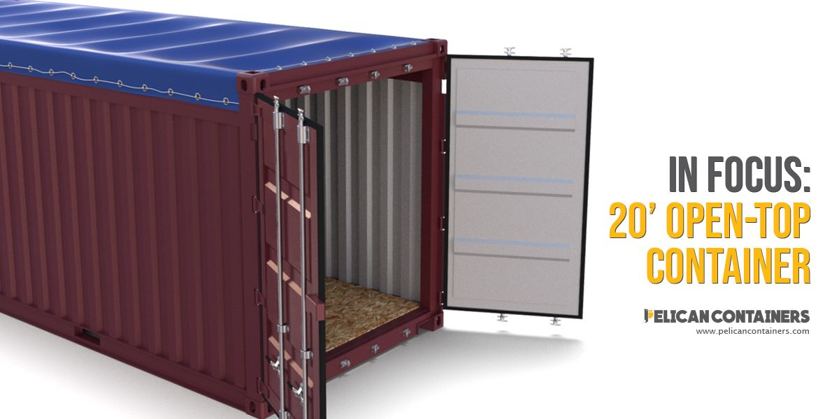 20 Foot Open Top Shipping Container For Sale Shipping