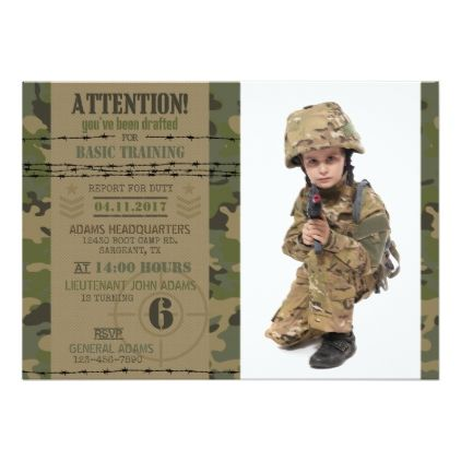 Army jungle camouflage military birthday card invitations custom army jungle camouflage military birthday card invitations custom unique diy personalize occasions bookmarktalkfo Image collections