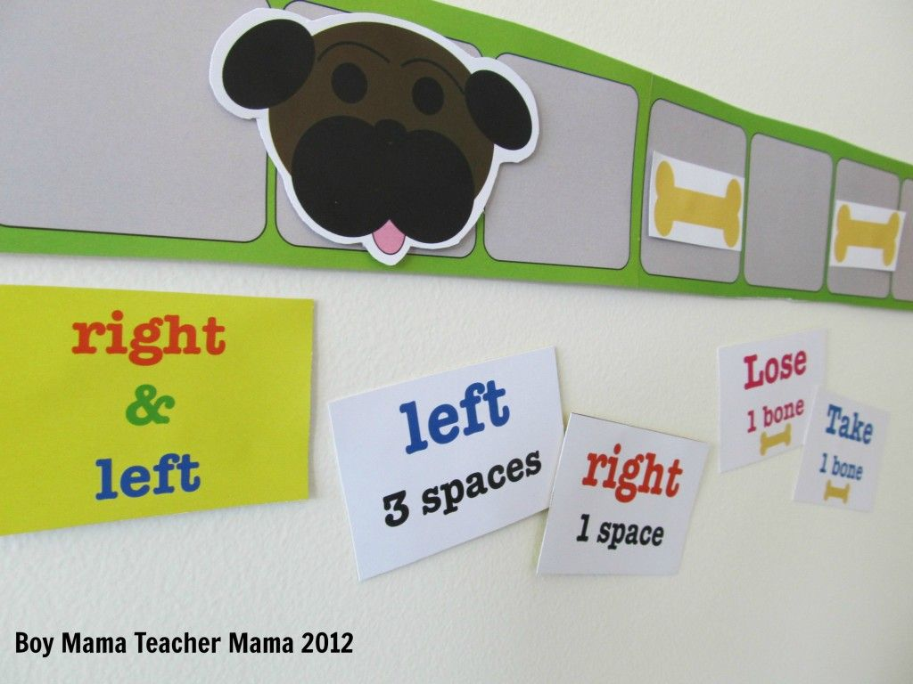 Teacher Mama A Game For Teaching Left And Right