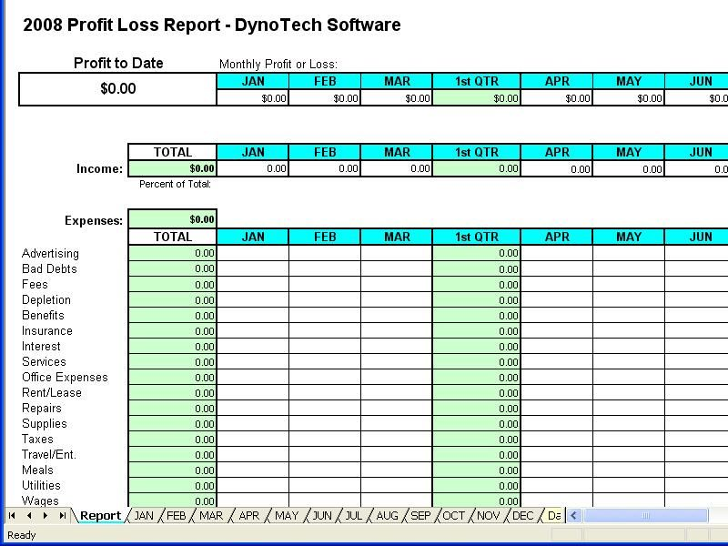 Excel Profit And Loss Spreadsheet Template  Building A Stronger