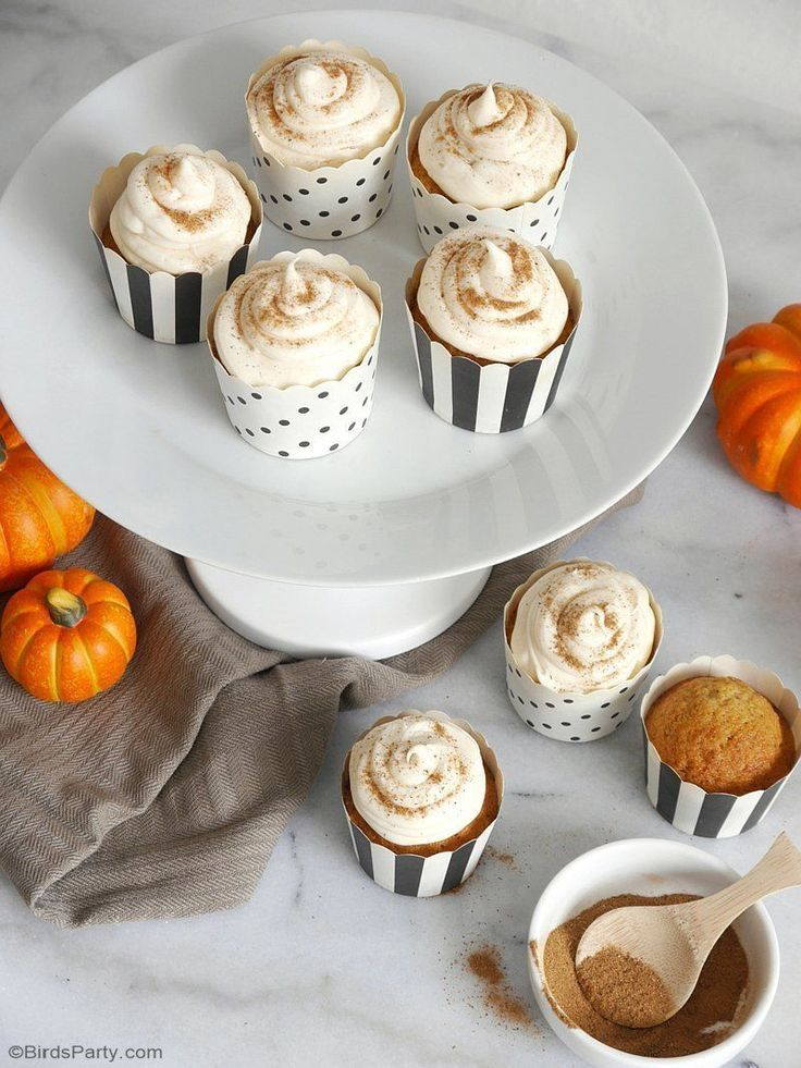 Pumpkin Spice Cupcakes & Easiest Cream Cheese Frosting EVER! #pumpkinspicecupcakes Pumpkin Spice Cupcakes & Easiest Cream Cheese Frosting EVER! - learn to bake these delicious Fall treats for a party or dessert course! #pumpkinspice #pumpkincupcakes #pumpkindesserts #falldesserts #pumpkinrecipes #pumpkinspicecupcakes