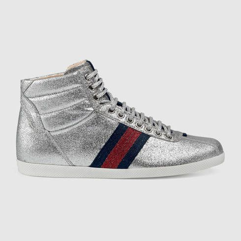 Gucci Women's Sparkly High-top Sneakers