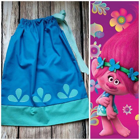 Girls dress Trolls birthday party pillowcase dresspoppy