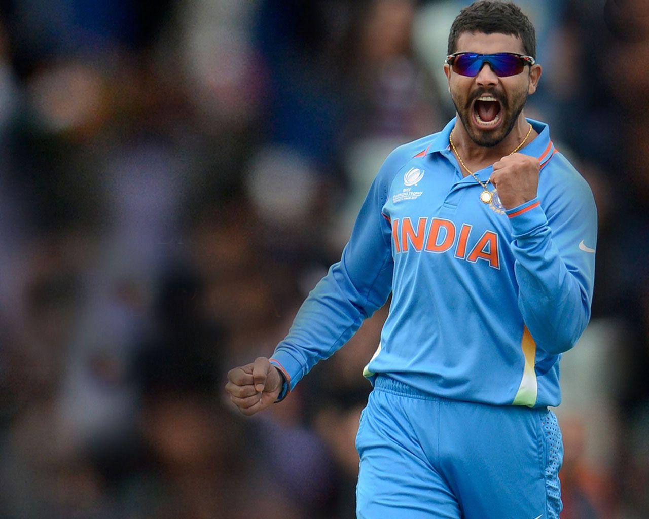 Ravindra Jadeja Indian Cricketer Hd Wallpaper Indian Cricketer